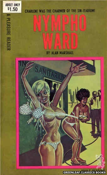 Pleasure Reader PR188 - Nympho Ward by Alan Marshall, cover art by Tomas Cannizarro (1968)