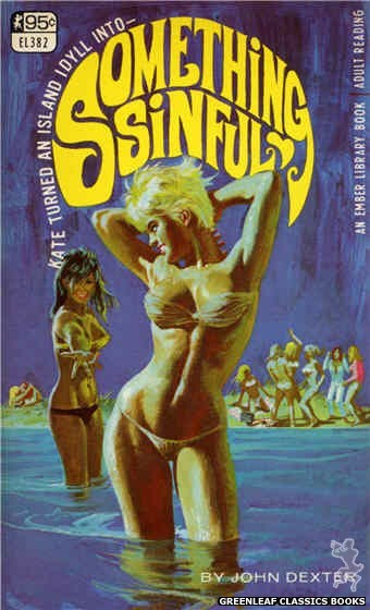 Ember Library EL 382 - Something Sinful by John Dexter, cover art by Robert Bonfils (1967)