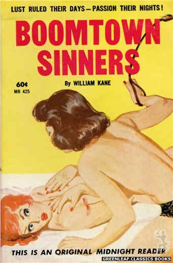 Midnight Reader 1961 MR425 - Boomtown Sinners by William Kane, cover art by Harold W. McCauley (1962)