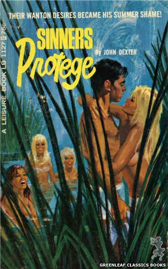 Leisure Books LB1127 - Sinners Protege by John Dexter, cover art by Robert Bonfils (1966)
