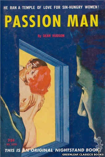 Nightstand Books NB1598 - Passion Man by Dean Hudson, cover art by Harold W. McCauley (1962)
