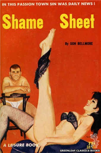 Leisure Books LB656 - Shame Sheet by Don Bellmore, cover art by Robert Bonfils (1964)