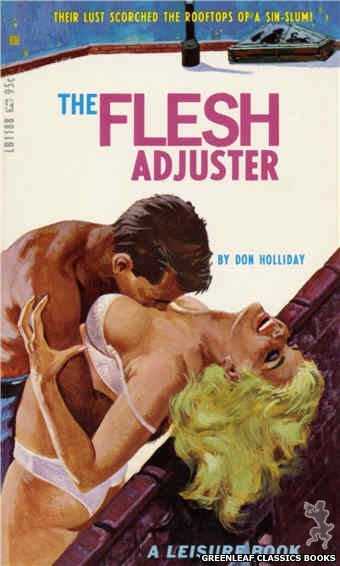 Leisure Books LB1188 - The Flesh Adjuster by Don Holliday, cover art by Robert Bonfils (1967)