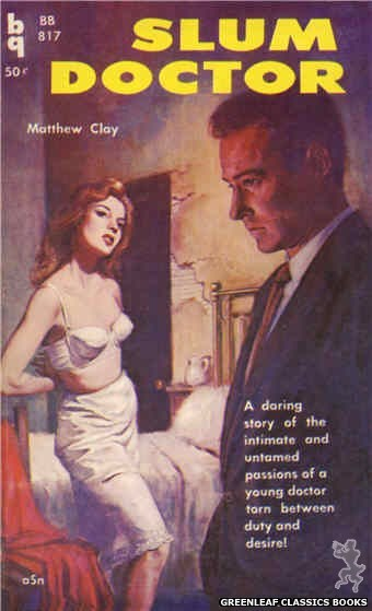 Bedside Books BB 817 - Slum Doctor by Matthew Clay, cover art by Unknown (1959)