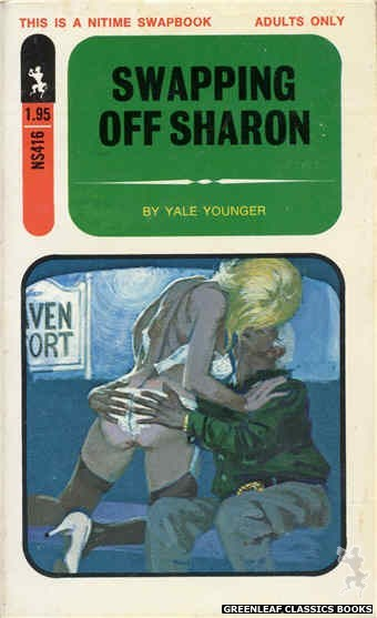 Nitime Swapbooks NS416 - Swapping Off Sharon by Yale Younger, cover art by Robert Bonfils (1971)
