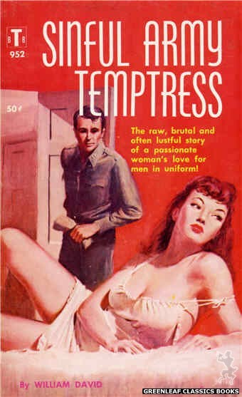 Bedside Books BTB 952 - Sinful Army Temptress by William David, cover art by Duillo (1959)