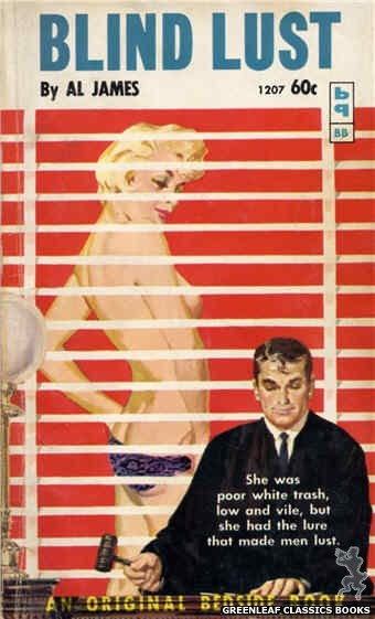 Bedside Books BB 1207 - Blind Lust by Al James, cover art by Harold W. McCauley (1961)