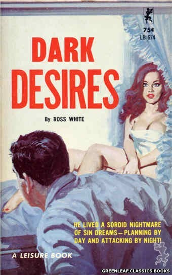 Leisure Books LB674 - Dark Desires by Ross White, cover art by Robert Bonfils (1965)