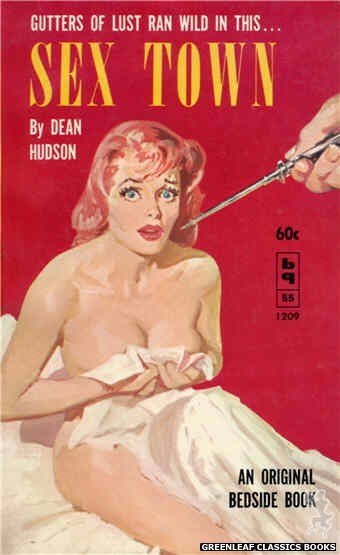 Bedside Books BB 1209 - Sex Town by Dean Hudson, cover art by Harold W. McCauley (1961)