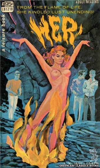 Leisure Books LB1218 - Her by J.X. Williams, cover art by Darrel Millsap (1967)