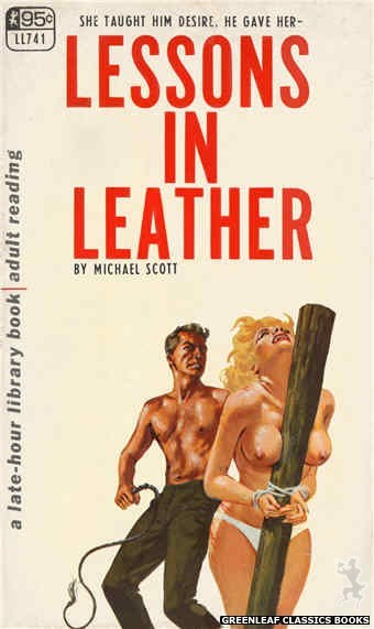 Late-Hour Library LL741 - Lessons In Leather by Michael Scott, cover art by Unknown (1967)