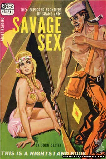 Nightstand Books NB1841 - Savage Sex by John Dexter, cover art by Tomas Cannizarro (1967)