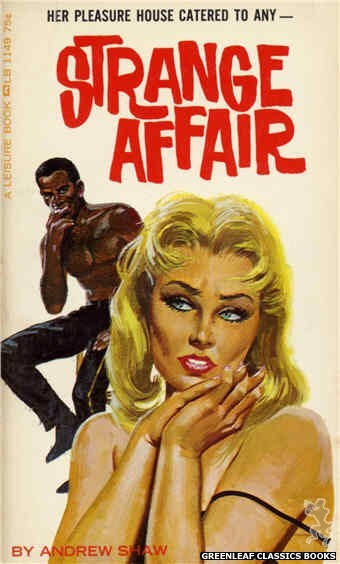 Leisure Books LB1149 - Strange Affair by Andrew Shaw, cover art by Robert Bonfils (1966)