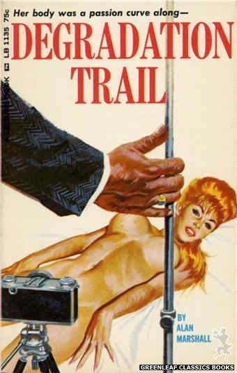 Leisure Books LB1135 - Degradation Trail by Alan Marshall, cover art by Robert Bonfils (1966)