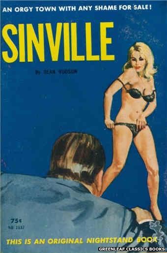 Nightstand Books NB1637 - Sinville by Dean Hudson, cover art by Robert Bonfils (1963)