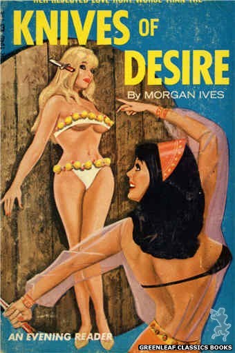 Evening Reader ER1240 - Knives of Desire by Morgan Ives, cover art by Tomas Cannizarro (1966)