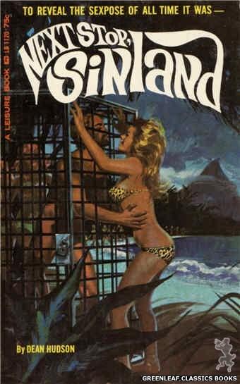 Leisure Books LB1120 - Next Stop, Sinland by Dean Hudson, cover art by Robert Bonfils (1965)