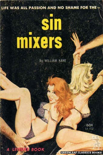 Leisure Books LB612 - Sin Mixers by William Kane, cover art by Robert Bonfils (1963)