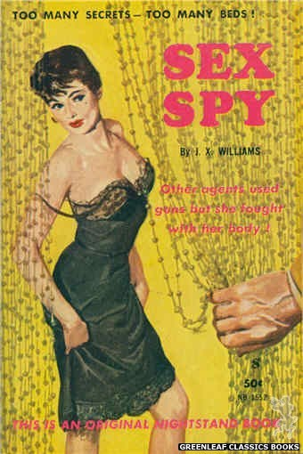 Nightstand Books NB1552 - Sex Spy by J.X. Williams, cover art by Harold W. McCauley (1961)