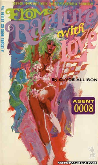 Leisure Books LB1180 - From Rapture With Love by Clyde Allison, cover art by Robert Bonfils (1966)