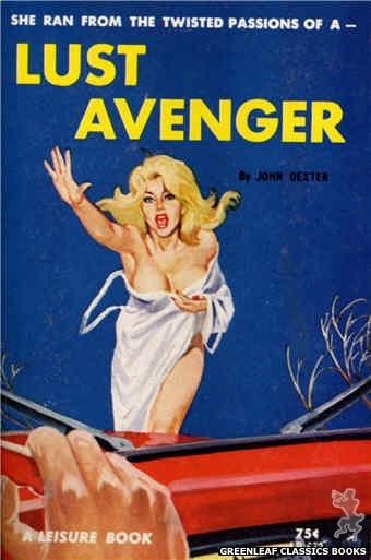 Leisure Books LB632 - Lust Avenger by John Dexter, cover art by Robert Bonfils (1964)