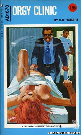Adult Books AB1678 - Orgy Clinic by H.A. Hobart, cover art by Unknown (1973)