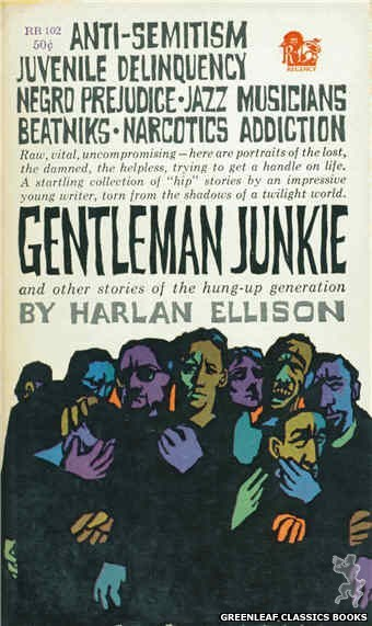 Regency Books RB102 - Gentleman Junkie by Harlan Ellison, cover art by The Dillons (1961)
