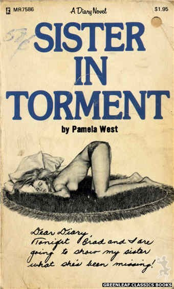 Midnight Reader 1974 MR7586 - Sister In Torment by Pamela West, cover art by Unknown (1975)
