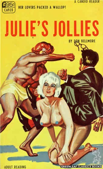 Candid Reader CA928 - Julie's Jollies by J.X. Williams, cover art by Tomas Cannizarro (1968)