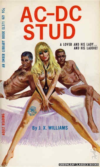 Ember Library EL 371 - AC-DC Stud by J.X. Williams, cover art by Robert Bonfils (1967)