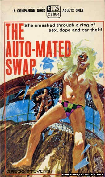 Companion Books CB654 - The Auto-Mated Swap by Gregg Stevens, cover art by Robert Bonfils (1970)