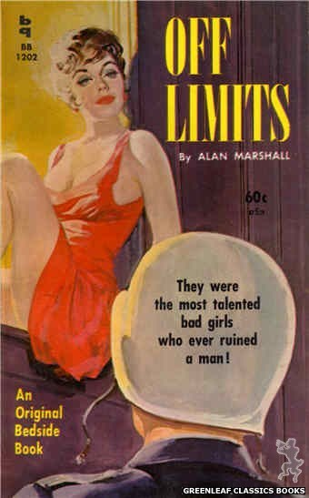 Bedside Books BB 1202 - Off Limits by Alan Marshall, cover art by Harold W. McCauley (1961)