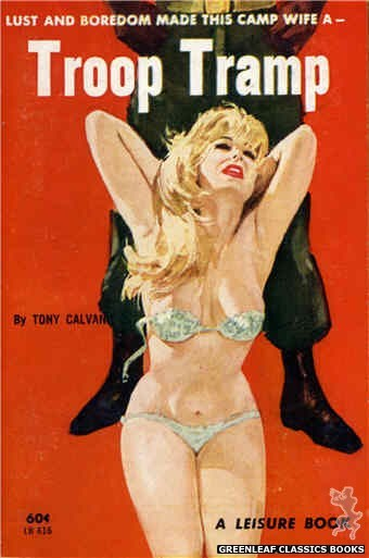 Leisure Books LB616 - Troop Tramp by Tony Calvano, cover art by Robert Bonfils (1963)