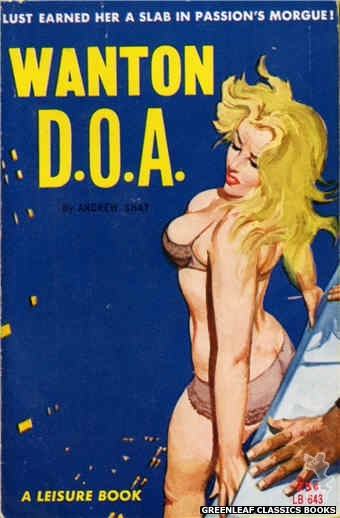 Leisure Books LB643 - Wanton D.O.A. by Andrew Shay, cover art by Robert Bonfils (1964)