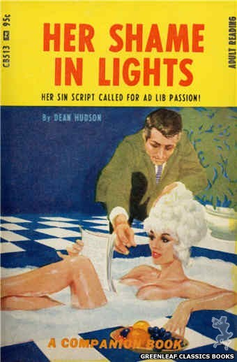 Companion Books CB513 - Her Shame In Lights by Dean Hudson, cover art by Darrel Millsap (1967)