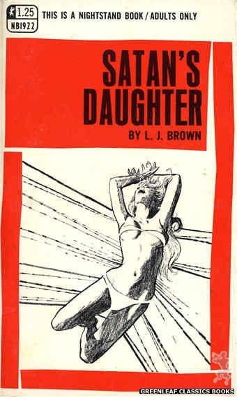 Nightstand Books NB1922 - Satan's Daughter by L.J. Brown, cover art by Unknown (1969)