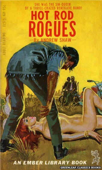 Ember Library EL 375 - Hot Rod Rogues by Andrew Shaw, cover art by Robert Bonfils (1967)