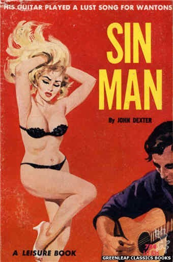 Leisure Books LB635 - Sin Man by John Dexter, cover art by Robert Bonfils (1964)