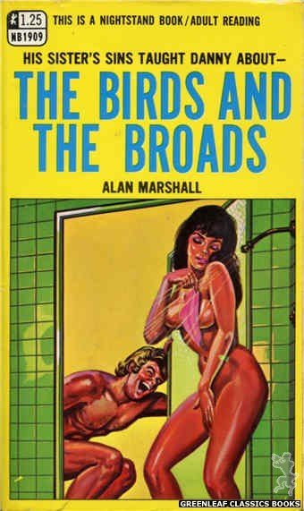 Nightstand Books NB1909 - The Birds and the Broads by Alan Marshall, cover art by Tomas Cannizarro (1968)