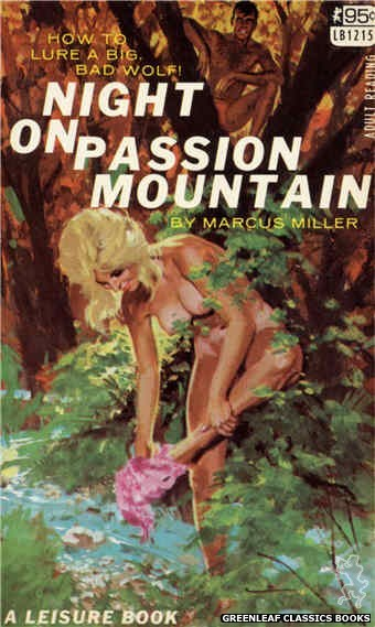 Leisure Books LB1215 - Night On Passion Mountain by Marcus Miller, cover art by Robert Bonfils (1967)