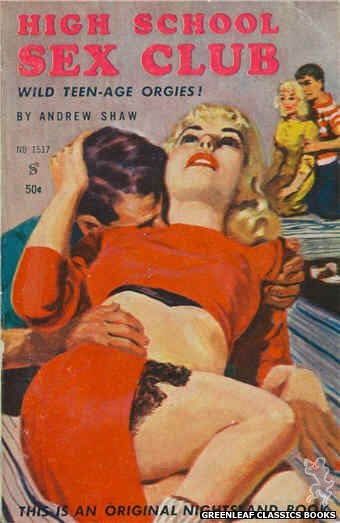 Nightstand Books NB1517 - High School Sex Club by Andrew Shaw, cover art by Harold W. McCauley (1960)