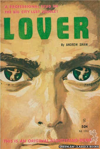 Nightstand Books NB1551 - Lover by Andrew Shaw, cover art by Harold W. McCauley (1961)