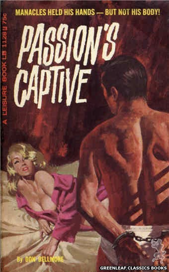 Leisure Books LB1128 - Passion's Captive by Don Bellmore, cover art by Robert Bonfils (1966)