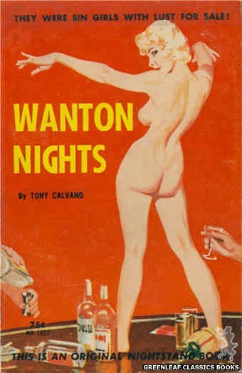 Nightstand Books NB1622 - Wanton Nights by Tony Calvano, cover art by Harold W. McCauley (1962)