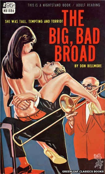 Nightstand Books NB1886 - The Big, Bad Broad by Don Bellmore, cover art by Tomas Cannizarro (1968)