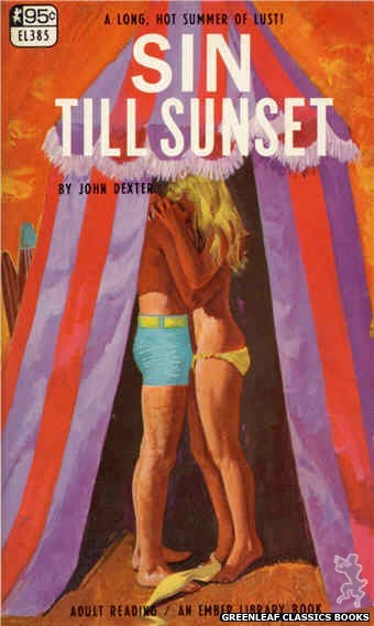 Ember Library EL 385 - Sin Till Sunset by John Dexter, cover art by Robert Bonfils (1967)