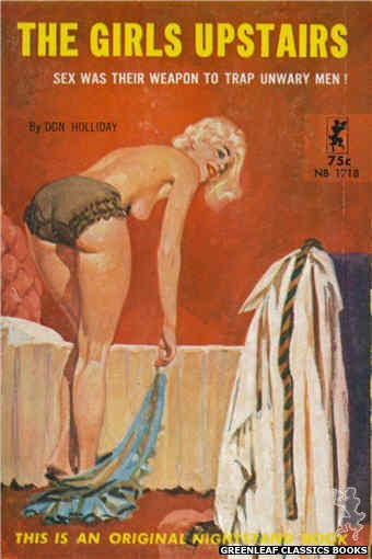 Nightstand Books NB1718 - The Girls Upstairs by Don Holliday, cover art by Unknown (1964)