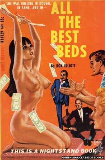 Nightstand Books NB1829 - All the Best Beds by Don Elliott, cover art by Tomas Cannizarro (1967)