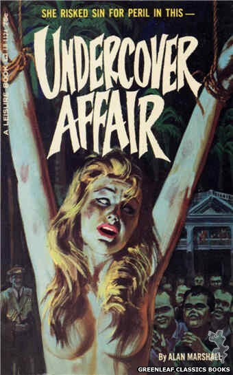 Leisure Books LB1124 - Undercover Affair by Alan Marshall, cover art by Robert Bonfils (1965)