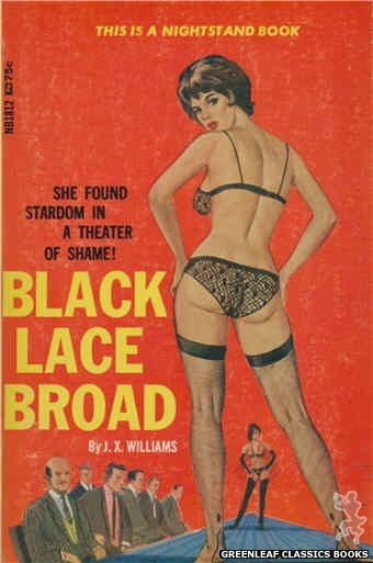 Nightstand Books NB1812 - Black Lace Broad by J.X. Williams, cover art by Ed Smtih (1966)